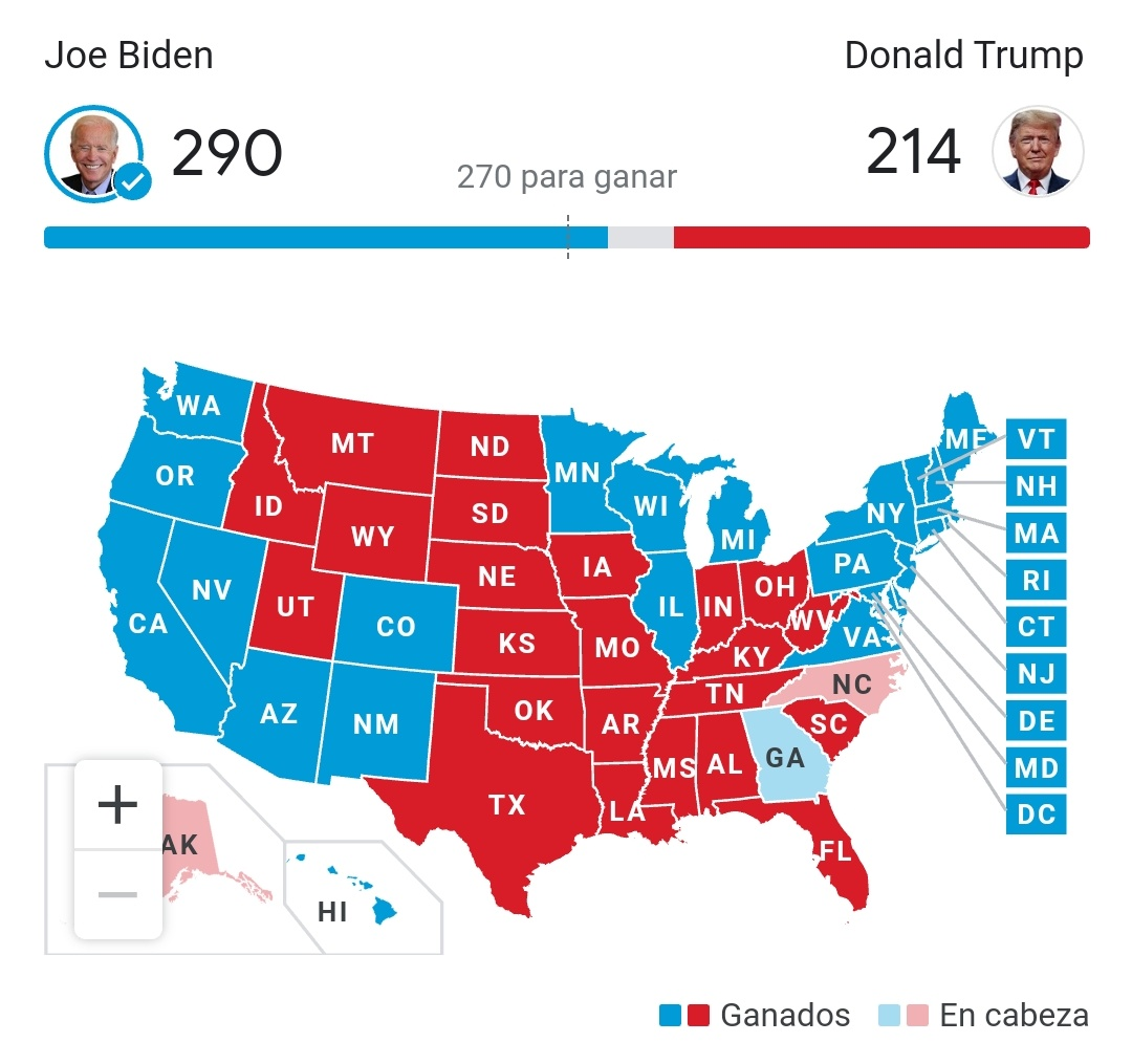 Joe Biden 46 presidente de EEUU ¿Fin del culebrón Tramp? 2